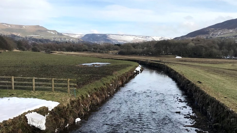 The River Tame near the village of Greenfield in Saddleworth (c) J Woodward