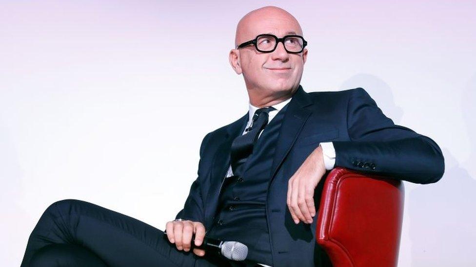 Mr Bizzarri at a talk at the London College of Fashion