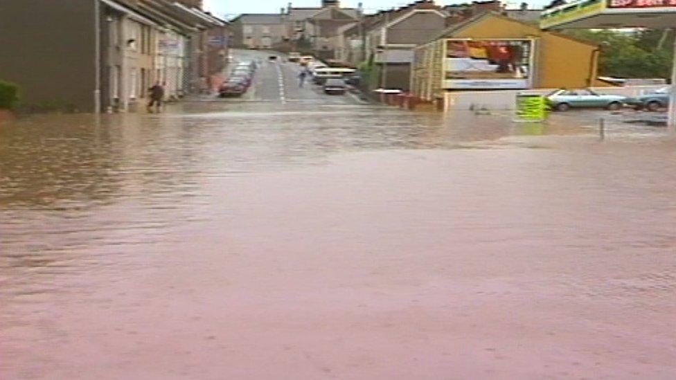 Flooding in Llanelli