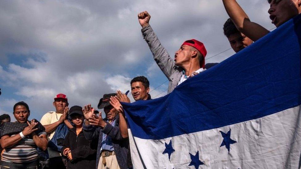 Marcha de la caravana de migrantes