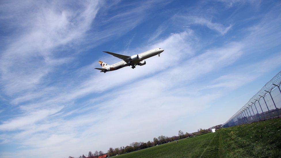 طائرة تابعة لشركة الاتحاد للطيران الإماراتية