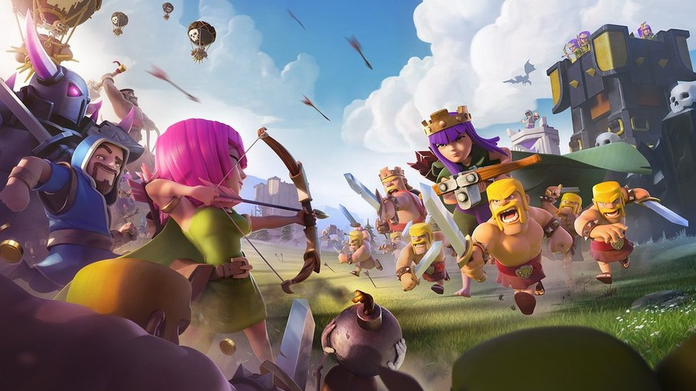 Remarquable Clash of Clans mobile game 'blocked' in Iran - BBC News MI-28
