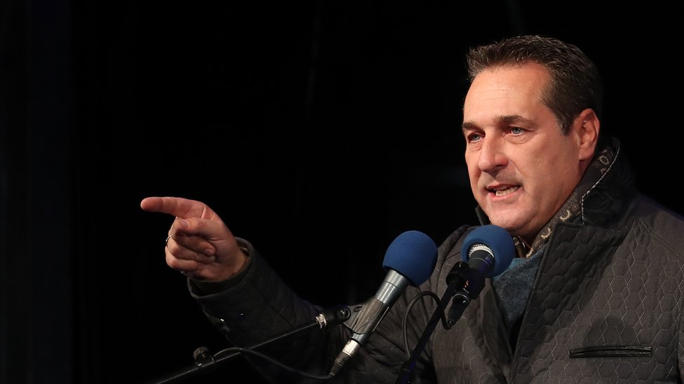 Heinz-Christian Strache, lead candidate of the right-wing Austria Freedom Party