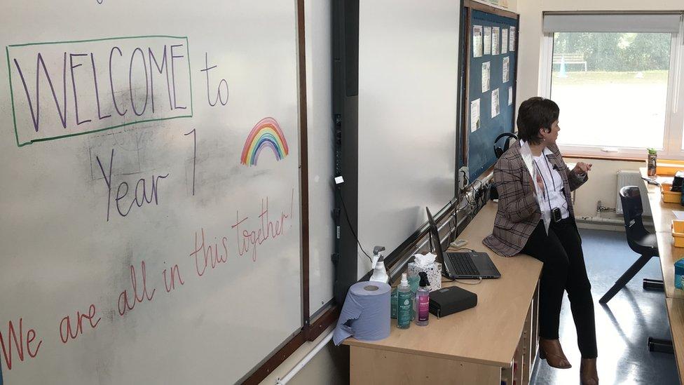 Classroom at Jones Memorial PS