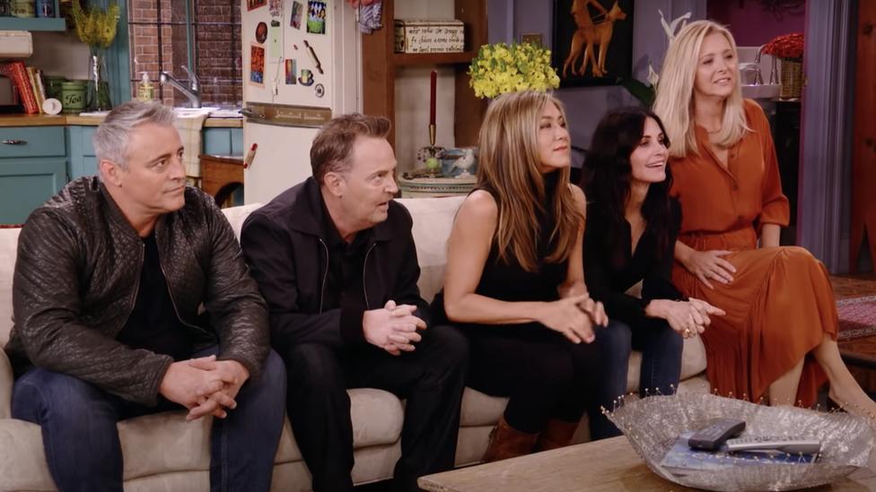Matt LeBlanc, Matthew Perry, Jennifer Aniston, Courtney Cox y Lisa Kudrow