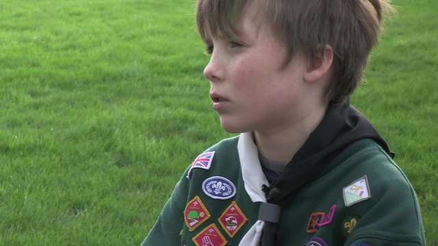 Harry Mathieson has earned what's thought to be the most badges of any Cub Scout in the country.