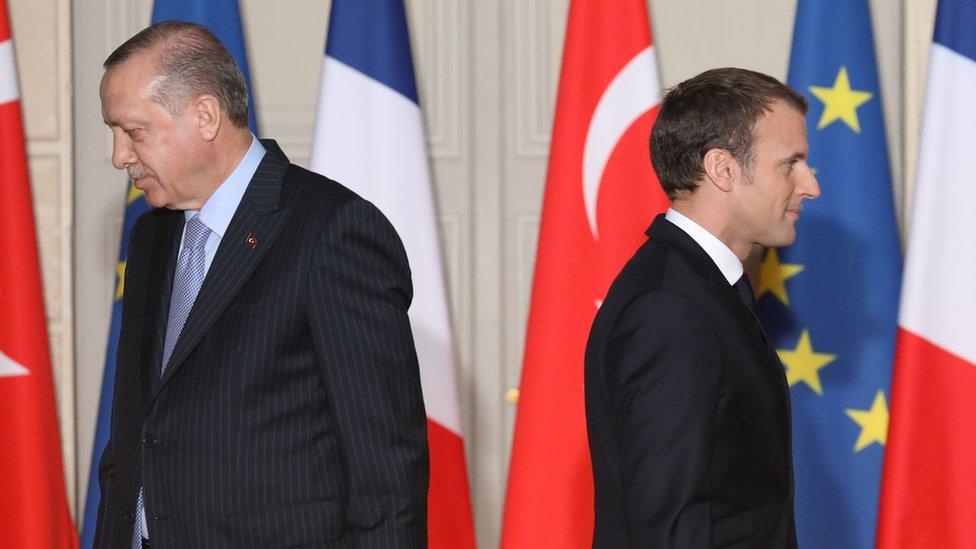 Erdoğan ile Macron Fotoğraf: 2018