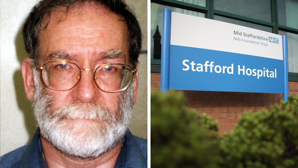 Dr Harold Shipman and Stafford Hospital sign