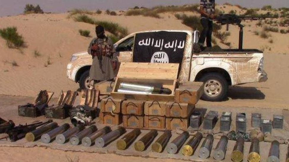 Photo posted on Twitter by Sinai Province purportedly showing captured weaponry (26 July 2015)