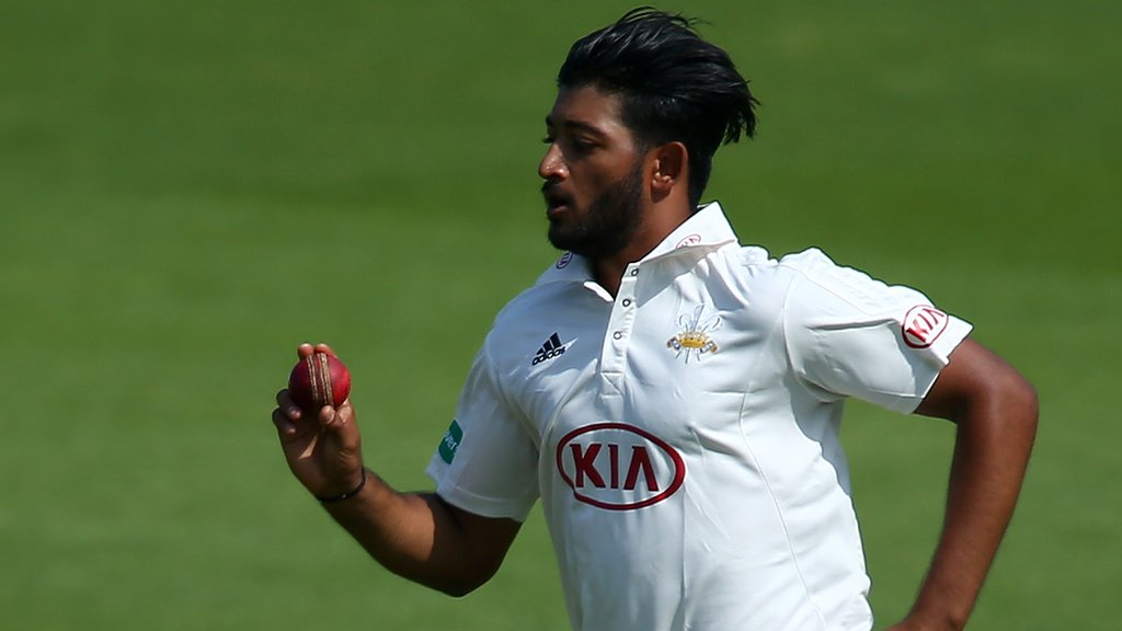 Surrey's Patel takes five wickets in 11 balls as Somerset follow-on