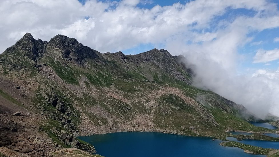 Mountain and lake in the area of Dan's searching