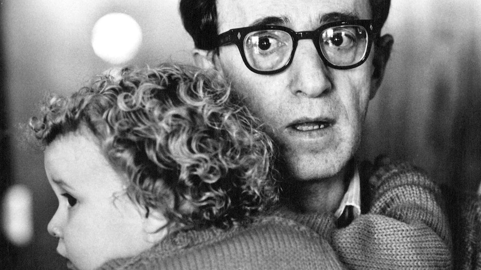 Allen with young Dylan Farrow in 1987