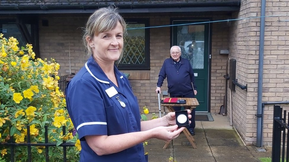 Therese Dales, associate community matron and Bill Wheatley