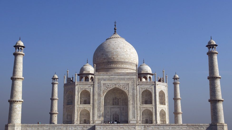 The Taj Mahal is located in the northern Indian city of Agra