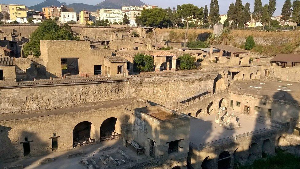 Yacimiento arqueológico Herculano.