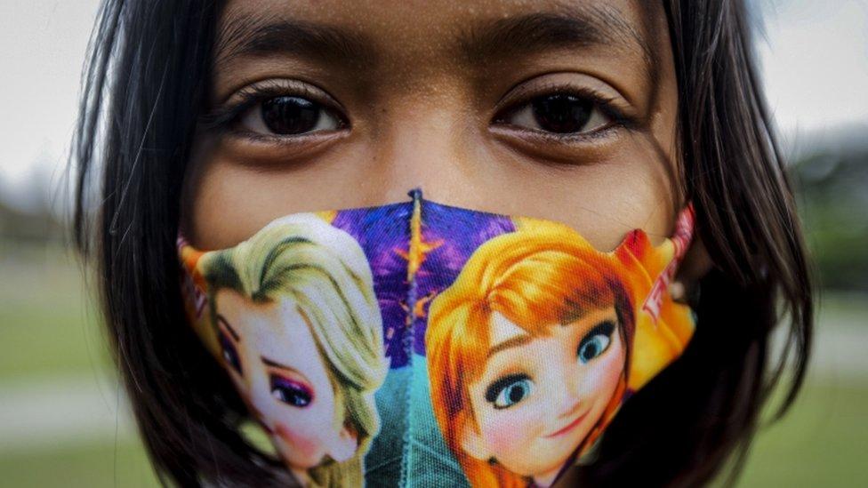 Foto aproximada de criança