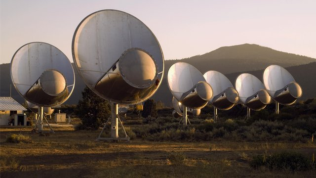 bank of radio telescopes