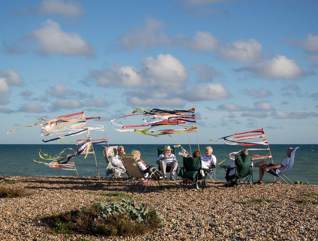 Drinks on the shore, Ferring, Sussex.