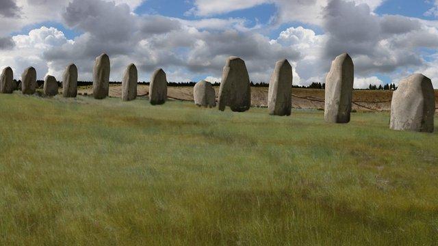 Large stones at Durrington Walls