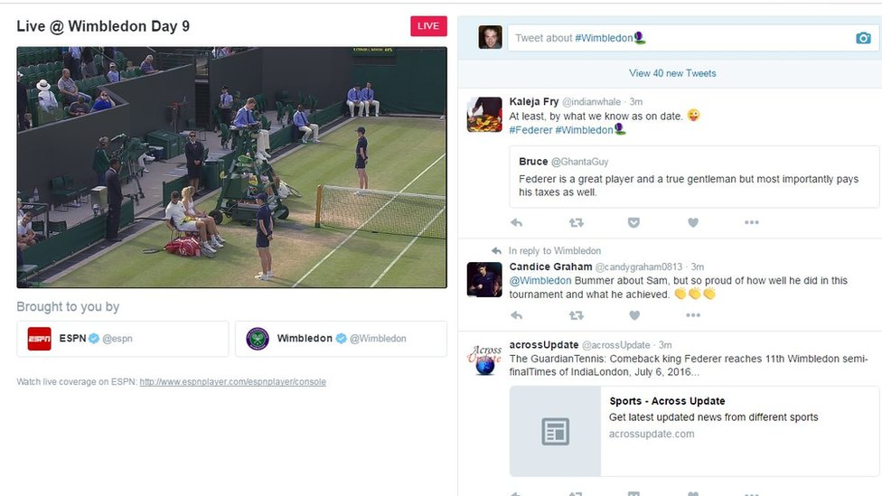 Wimbledon on Twitter