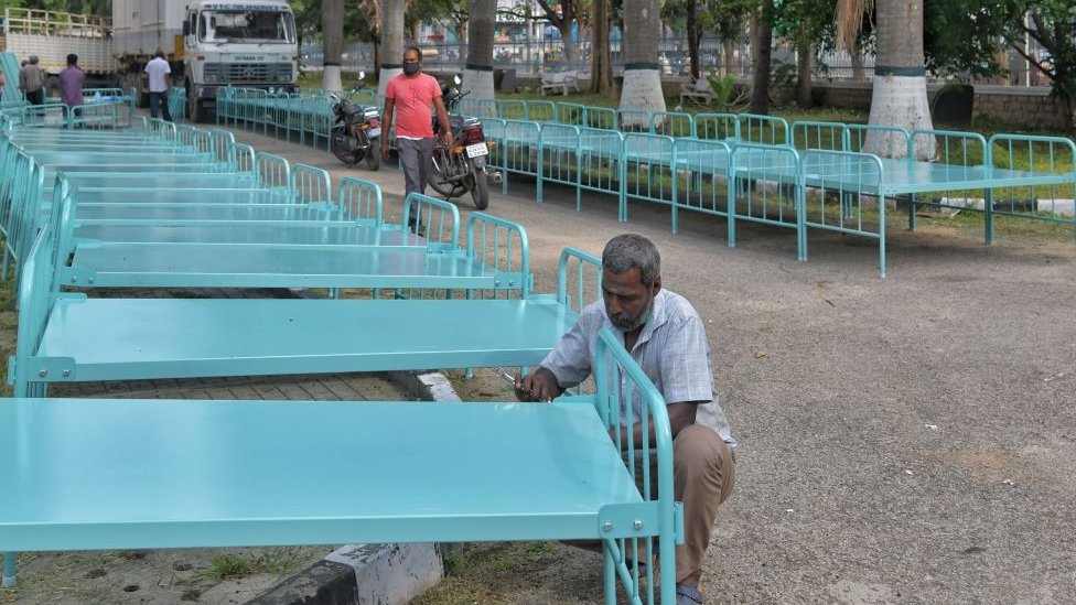 Tempat tidur tambahan sedang dibuat di Bangalore.