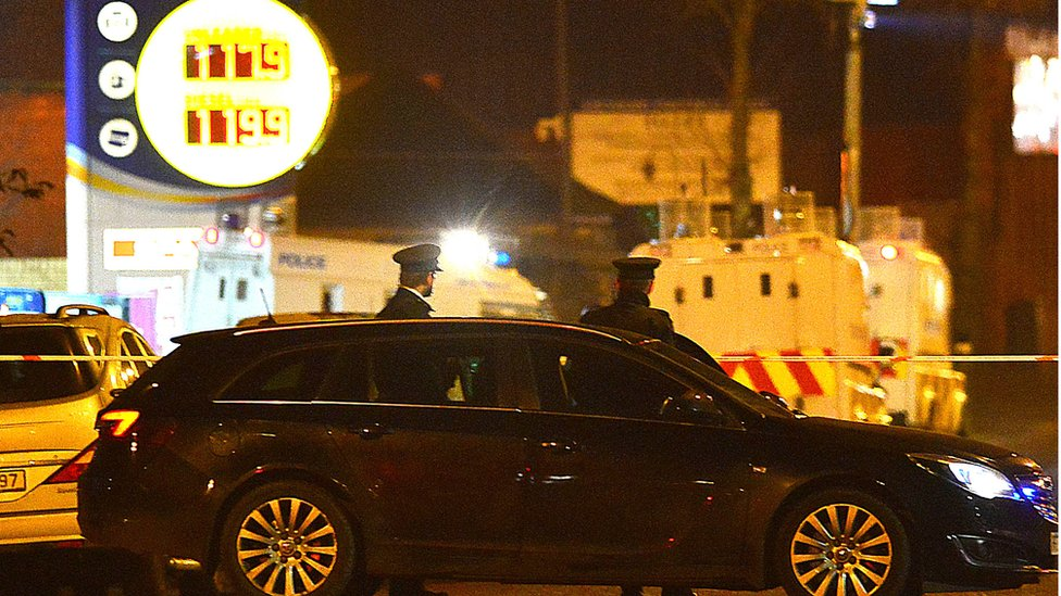 The shooting happened near a petrol station on the Crumlin Road
