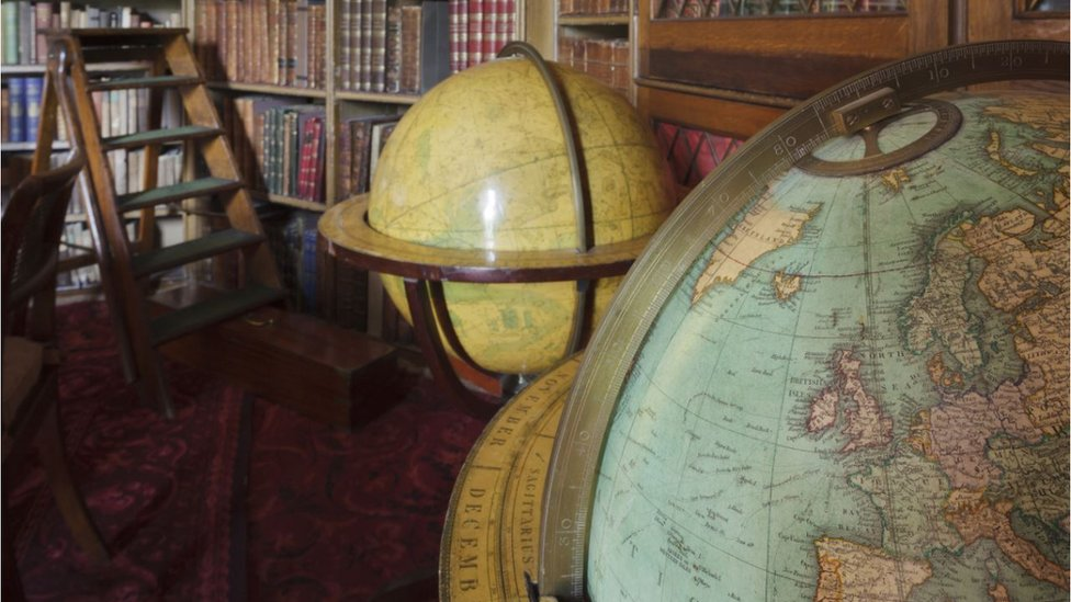 The globes at Calke