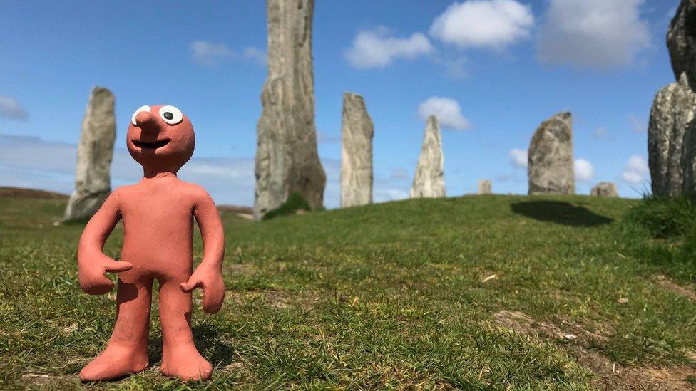 Morph at Calanais Standing Stones