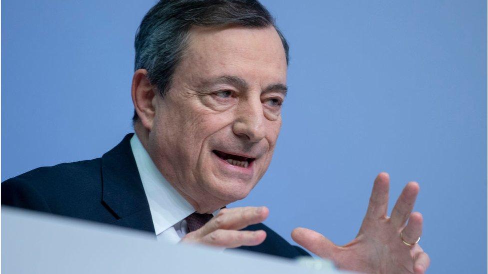 ECB chief Mario Draghi