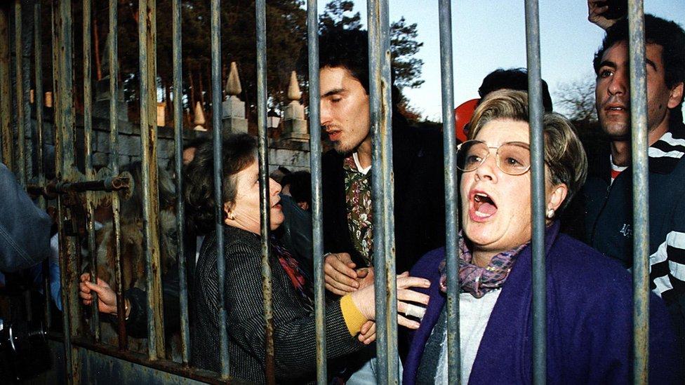 Protesta de madres gallegas contra la droga.