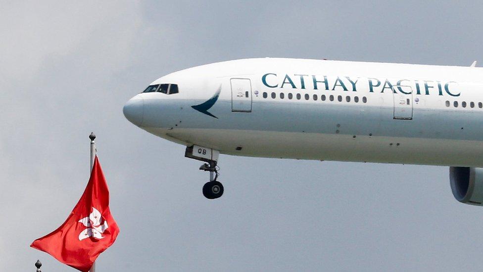 國泰航空公司的客機