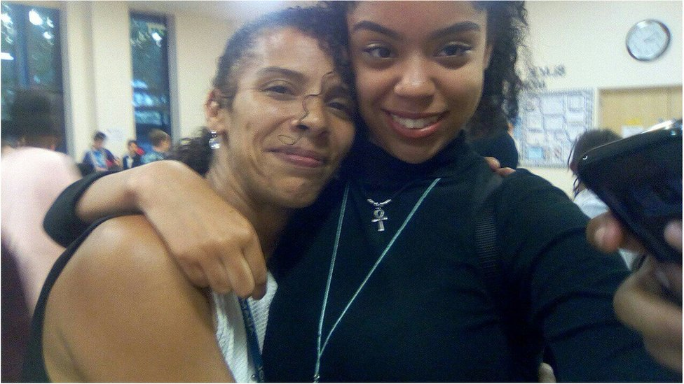 Willow Sims with her daughter, Devon
