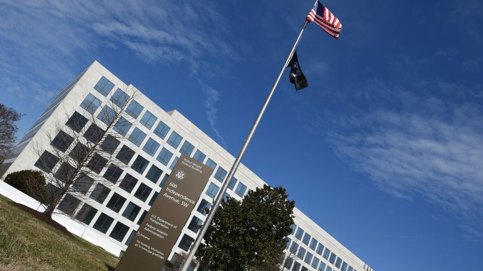 Federal Aviation Administration (FAA) building is seen at 600 Independence Avenue in Washington, DC
