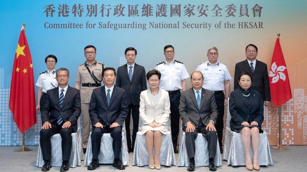 香港特區國安委首次會議之後全體官員合照(8/8/2020)