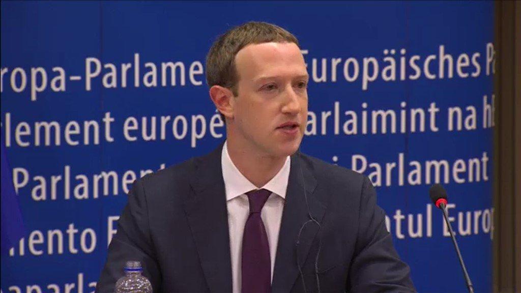 Zuckerberg apologises to European Parliament for 'harm'