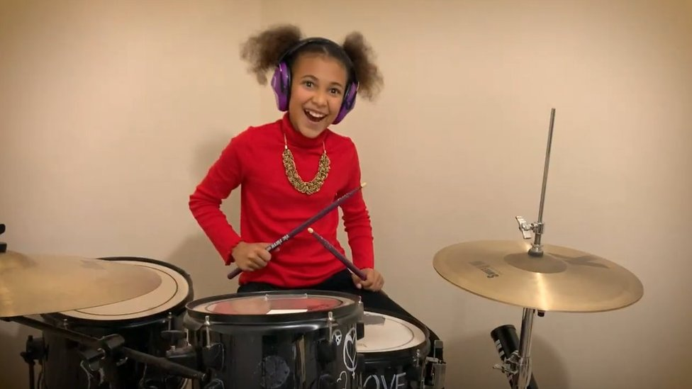 Nandi on the drums