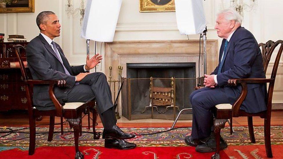 美國前總統奧巴馬與艾登堡爵士