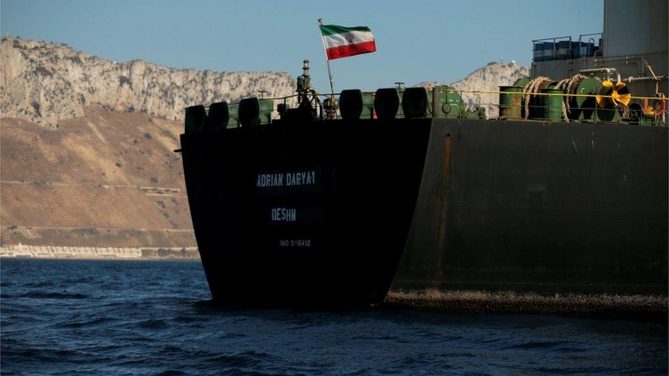 Adrian Darya 1 di Gibraltar bulan Agustus