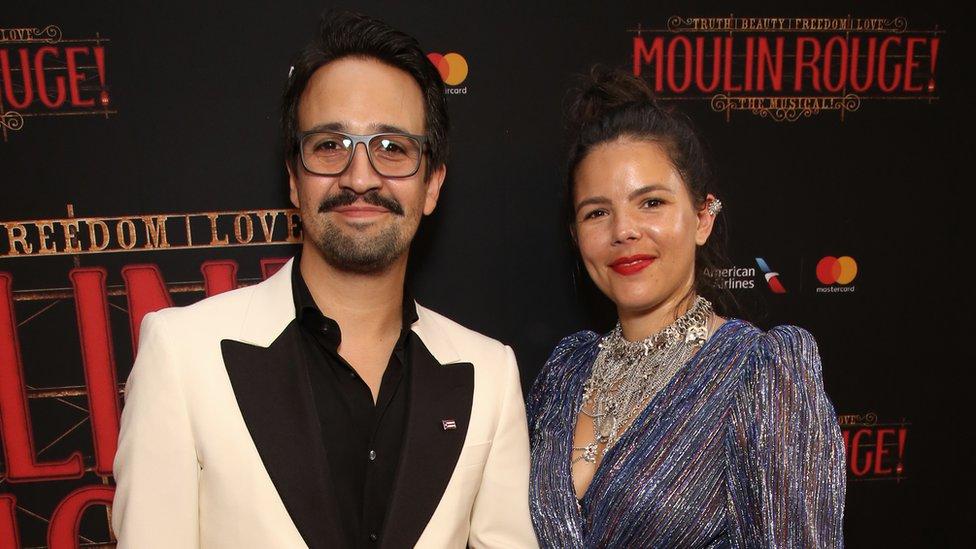 Lin Manuel Miranda and his wife Vanessa Nadal