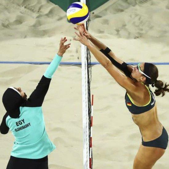 Doaa Elghobashy y Kira Walkenhorst en Rio 2016