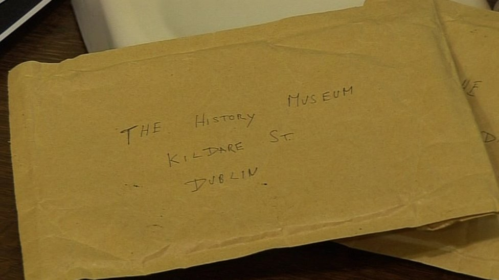 Envelope addressed to museum