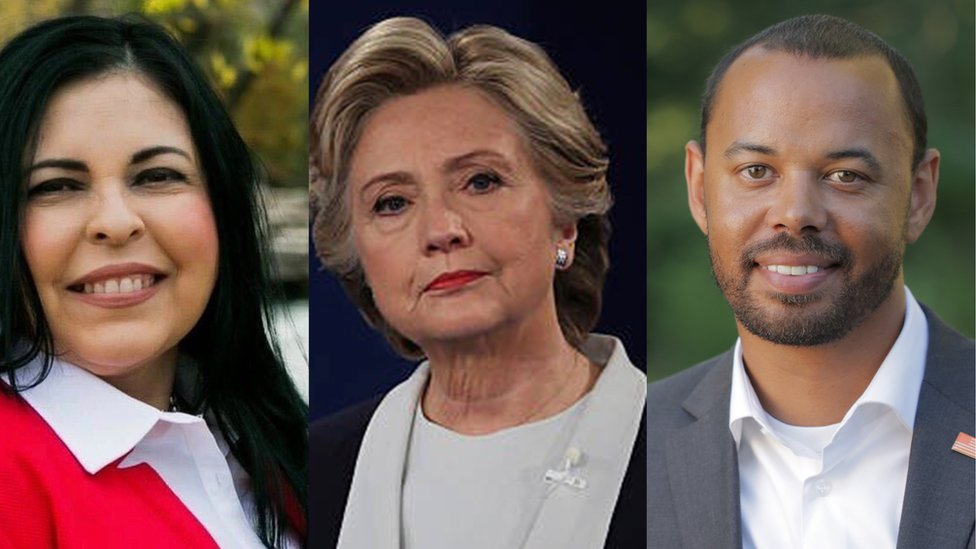 Naomi Narvaiz, Hillary Clinton y Khary Penebaker