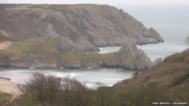 Three Cliffs Bay area, Penmaen, Swansea.