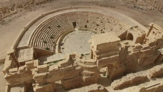 The Roman amphitheatre in Palymyra