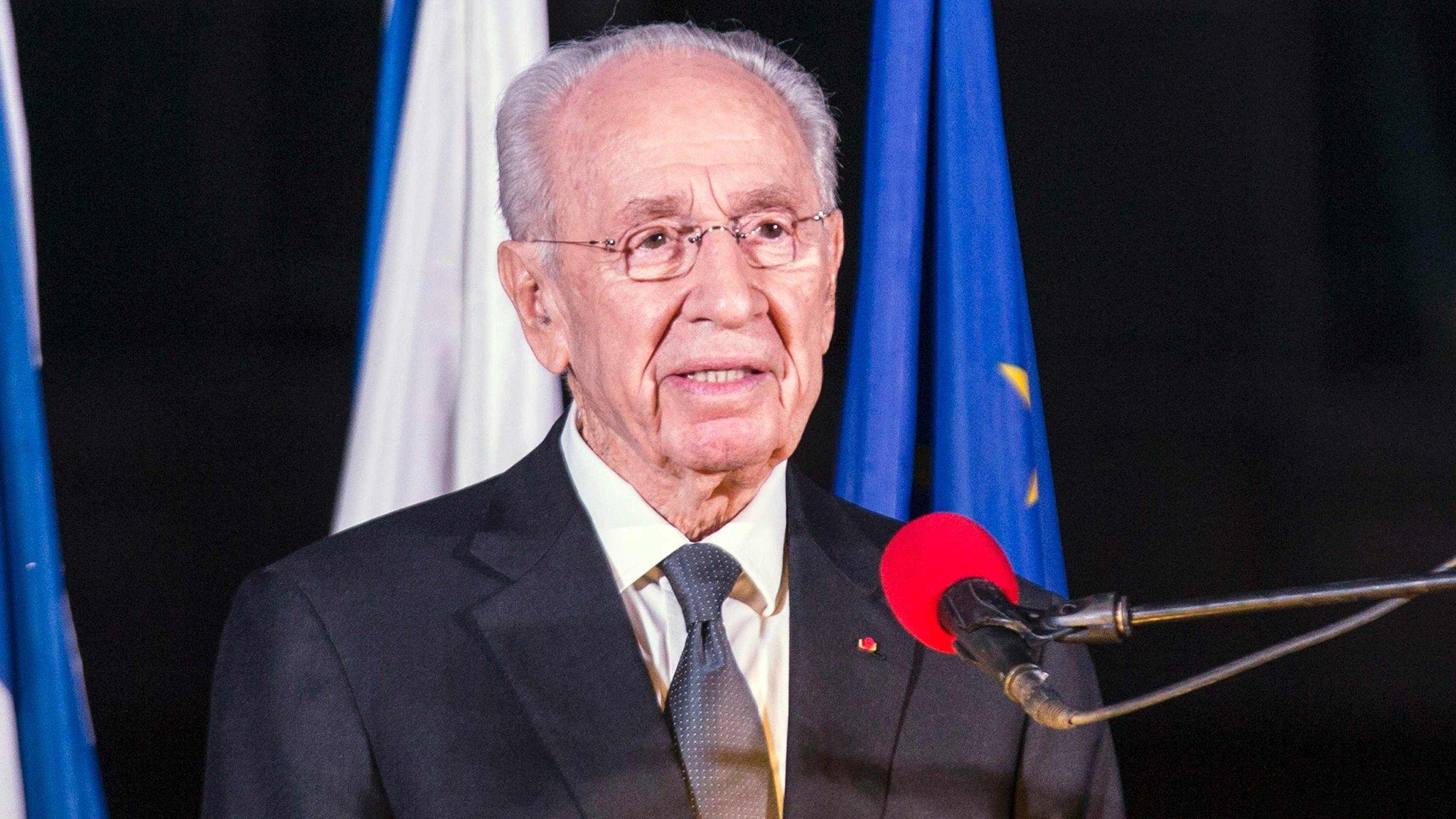 File photo of Shimon Peres (14 November 2015)