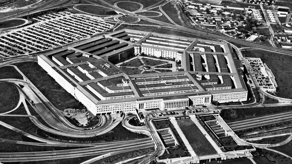 El Pentágono en los años 60.