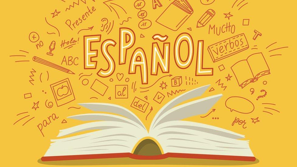 Ilustración del idioma español.