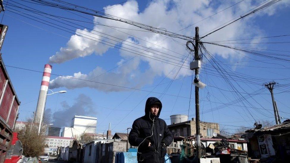 Planta de carbón China