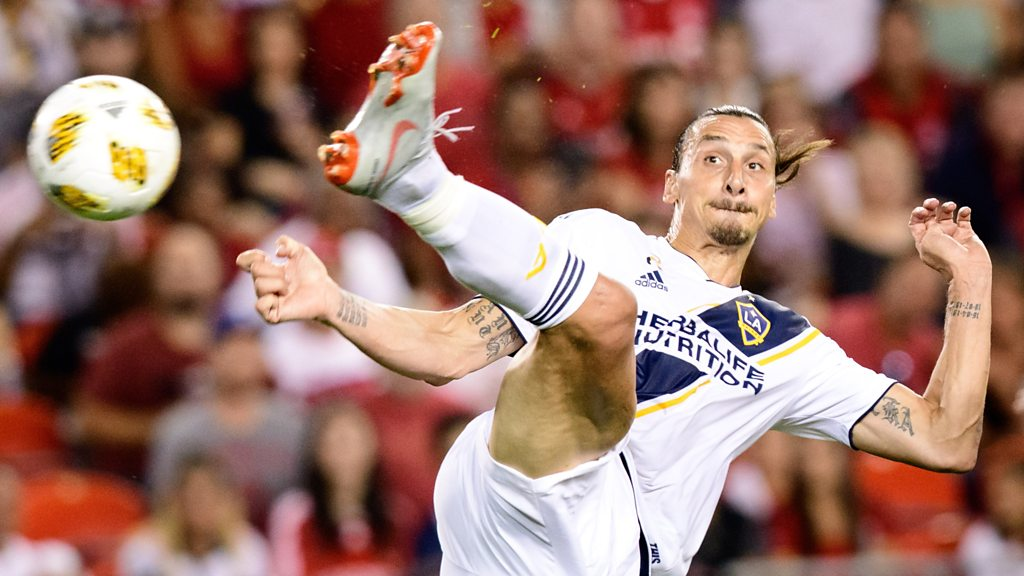 Zlatan Ibrahimovic: LA Galaxy striker scores 500th career goal with spinning volley