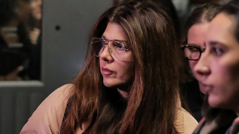 Marisa Tomei at a court hearing for Weinstein in December 2018